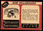 1968 O-Pee-Chee #191  Bob Dillabough  Back Thumbnail