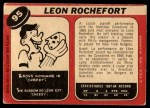 1968 O-Pee-Chee #95  Leon Rochefort  Back Thumbnail