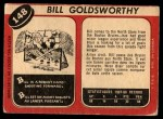 1968 O-Pee-Chee #148  Bill Goldsworthy  Back Thumbnail