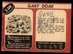 1968 O-Pee-Chee #138  Gary Doak  Back Thumbnail