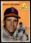 1954 Topps #151  Alex Grammas  Front Thumbnail