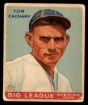 1934 World Wide Gum #47  Tom Zachary  Front Thumbnail