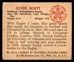 1950 Bowman #60  Clyde Scott  Back Thumbnail