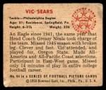 1950 Bowman #94  Vic Sears  Back Thumbnail