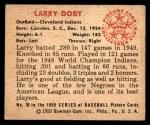 1950 Bowman #39  Larry Doby  Back Thumbnail
