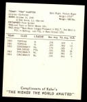 1965 Kahn's  Tommy Harper  Back Thumbnail