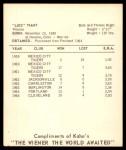 1965 Kahn's  Luis Tiant  Back Thumbnail