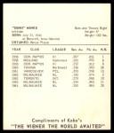1965 Kahn's  Denis Menke  Back Thumbnail