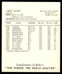 1965 Kahn's  Gene Oliver  Back Thumbnail