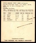 1964 Kahn's  Pete Rose  Back Thumbnail