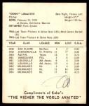 1965 Kahn's  Denver LeMaster  Back Thumbnail