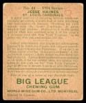 1934 World Wide Gum #44  Jesse Haines  Back Thumbnail