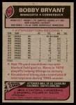 1977 Topps #521  Bobby Bryant  Back Thumbnail