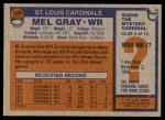 1976 Topps #520  Mel Gray  Back Thumbnail