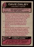 1977 Topps #511  Dave Dalby  Back Thumbnail