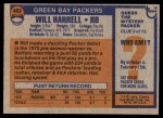 1976 Topps #483  Will Harrell   Back Thumbnail