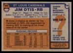 1976 Topps #445  Jim Otis  Back Thumbnail