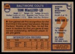 1976 Topps #440  Tom MacLeod   Back Thumbnail