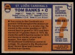 1976 Topps #498  Tom Banks   Back Thumbnail