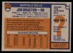1976 Topps #514  Jim Braxton  Back Thumbnail