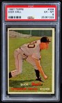 1957 Topps #308  Dick Hall  Front Thumbnail
