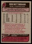 1977 Topps #492  Don Nottingham  Back Thumbnail