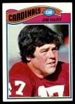 1977 Topps #485  Jim Hart  Front Thumbnail