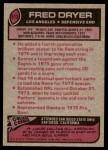 1977 Topps #513  Fred Dryer  Back Thumbnail