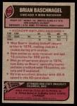 1977 Topps #525  Brian Baschnagel  Back Thumbnail