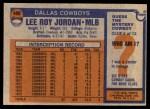 1976 Topps #490  Lee Roy Jordan  Back Thumbnail