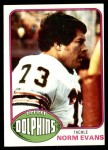 1976 Topps #492  Norm Evans  Front Thumbnail
