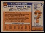 1976 Topps #525  Bert Jones  Back Thumbnail