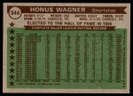 1976 Topps #344   -  Honus Wagner All-Time All-Stars Back Thumbnail