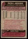 1977 Topps #493  Ron Jessie  Back Thumbnail