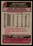 1977 Topps #485  Jim Hart  Back Thumbnail