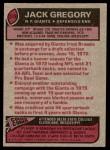 1977 Topps #519  Jack Gregory  Back Thumbnail