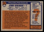 1976 Topps #524  Jerry Sisemore  Back Thumbnail