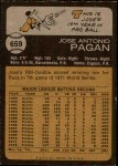 1973 Topps #659  Jose Pagan  Back Thumbnail