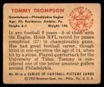 1950 Bowman #95  Tom Thompson  Back Thumbnail