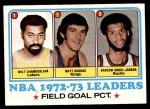 1973 Topps #155  Wilt Chamberlain / Matt Guokas / Kareem Abdul-Jabbar  Front Thumbnail