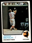 1973 Topps #380  Johnny Bench  Front Thumbnail