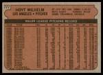 1972 Topps #777  Hoyt Wilhelm  Back Thumbnail