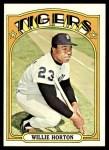1972 Topps #750  Willie Horton  Front Thumbnail