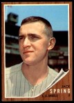 1962 Topps #257  Jack Spring  Front Thumbnail