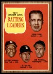 1962 Topps #51   -  Al Kaline / Norm Cash / Elston Howard / Jimmy Piersall AL Batting Leaders Front Thumbnail