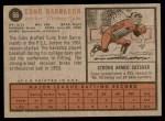 1962 Topps #66  Cuno Barragon  Back Thumbnail