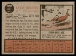 1962 Topps #477  Andre Rodgers  Back Thumbnail