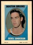 1970 Topps O-Pee-Chee Sticker Stamps #27  Derek Sanderson  Front Thumbnail