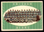 1961 Topps #18   Bears Team Front Thumbnail
