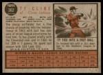 1962 Topps #362  Ty Cline  Back Thumbnail